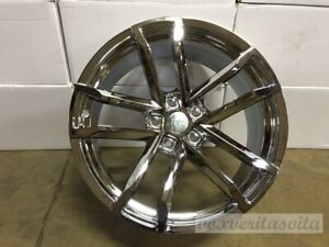 New Chrome Finish 20 Staggered Wheels Rims Fits 2010 Chevrolet Camaro Z28