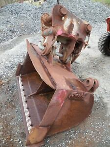 60 Tilting Geith Excavator Bucket Coupler Ditch Cleaning Cleanup