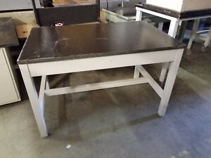 Lab Crafters Laboratory Work Station Table Resin Top 48 X 30 X 31