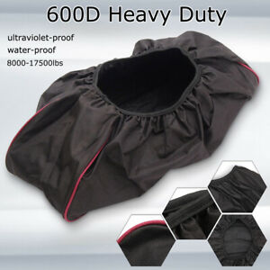 600d Waterproof Soft Winch Dust Cover Driver Recovery 8500 17500 Lbs Capacity Us