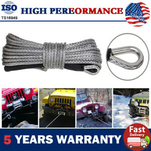 1 4 X50 Synthetic Winch Rope Line Recovery Cable 10000lbs For 4wd W Sheath