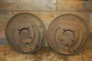 1965 1966 Ford F250 Dana 60 Rear Axle Drum Brake Backing Plates