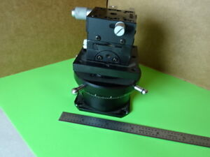 Sigma Koki Rotatable Optical Laser Stage Micrometer Pro Optics As Is l5 b 10
