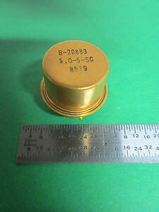 Rare Bendix Quartz Resonator Gold Cold Welded Hc 45 Frequency 5 Mhz Sc Standard