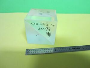 Optical Large Beam Splitter Cube Mil Spec Laser Optics Bin e5 08