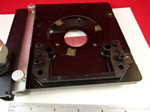 Microscope Part Leitz Germany Stage Specimen Table Micrometer As Is Bin l2 b 04