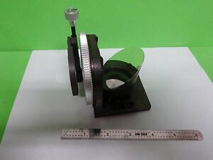 Microscope Leitz Germany Illuminator Mirror Lens Optics As Is Bin 2b e 04