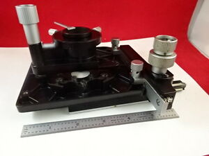 Microscope Part Leitz Germany Sm lux Table Stage Condenser As Is B p2 a 99