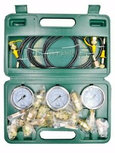 15 Pcs Hydraulic Pressure Testing Tool Kit 3 Tester 3 Pipe 15 Joint