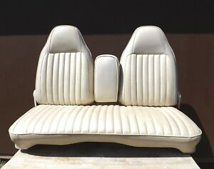 1971 1973 Dodge Dart Custom 4 door White Front Bench Seat Bucket Back Style Rare