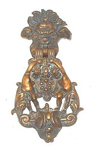 Door Knocker Cast Solid Heavy Bronze Antique Beautiful Ornate Big 11 5