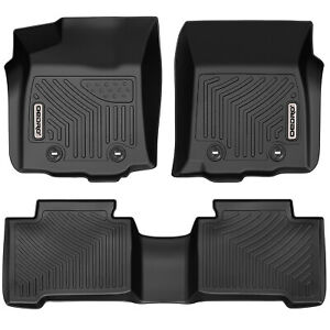 Oedro Floor Mats Liners Unique Tpe Fit For 2018 2021 Toyota Tacoma Double Cab