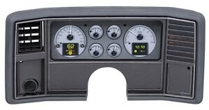 Dakota Digital 78 88 Chevy Monte Carlo Analog Gauges System Silver Hdx 78c Mc S