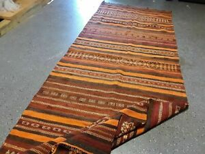 Vintage Turkish Runner Rug 3 6 X10 Hand Knotted Kilim Rug 100 Wool Rug