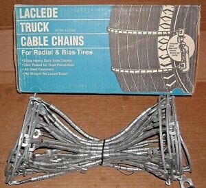 Laclede Truck Cable Tire Snow Chains Stock 2029 tc Never Used