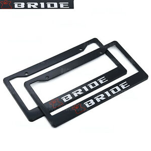 1 Pair Jdm Universal Bride Plastic Racing License Plate Frame Tag Cover Holder