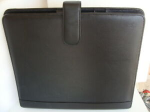 Monarch 1 25 Rings blk Genuine Leather Franklin Covey Planner binder Mag snap