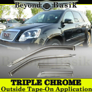 2007 2016 Gmc Acadia 4pc Chrome Door Vent Window Visors Rain Guards