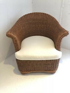A Classic Wicker Launge Chair By Palecek