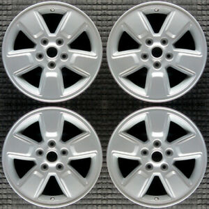 Set 2008 2009 2010 2011 2012 Jeep Liberty Oem Silver Large Cap Wheels Rims 9084