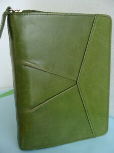 Compact 1 rings Unstructured Full Grain Leather Franklin Covey Planner Binder