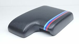Bmw E46 1999 2006 Armrest center Console Cover black Carbon Fiber M3