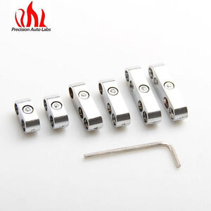 New Silver Engine Spark Plug Wire Separator Divider Clamp 8mm 9mm 10mm Us Stock