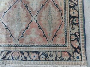 Antique Classical Rare Well Worn Rug