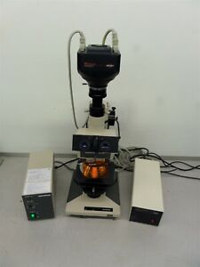 Olympus Bh 2 Microscope W Fluorescence Sp402 115 And Power Supply Bh2 rfl t3