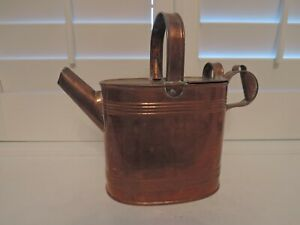 Antique English Copper Watering Can Emley Sons 1890 1920 Garden