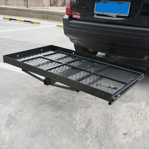 Foldable Durable Hitch Mounted Wheel Chair Carrier Mobility Scooter Ramp