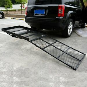 Black Mobility Carrier Wheelchair Electric Scooter Rack Hitch Medical Ramp New
