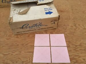 Nos Pacific Vintage Tile Set Mid Century Ceratile Pink French Quarter
