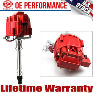 Hei Distributor Electronic For Sbc Bbc 327 350 383 Chevy Msd 8362 59107c Red