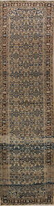 Decorative All Over Palace Size 3x13 Wool Persian Malayer Oriental Runner Rug