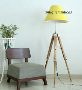 Designer Shade Lamp Vintage Look Royal Classic Nautical Tripod Floor Lamp Stand