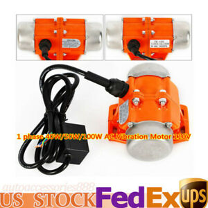 Electric 110v Vibrator Motor Single Phase 40w 50w 100w 3600 Rpm Apply In Mining