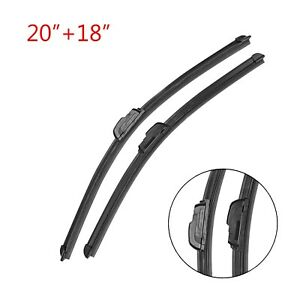2pcs 20 18 Bracketless Oem Windshield Wipers Blades J Hook For All Season