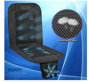 Cool Summer Comfortable Breathable Cooling Car Seat Cover Fan Cushion 12v