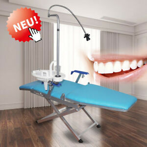 Dental Folding Chair Unit led Curing Light water Supply System plastic Spittoon