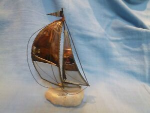Decorative Vintage Model Of A Sailing Ship Or Boat
