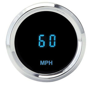 Dakota Digital Solarix Series Universal Mini 2 1 16 Round Speedometer Slx 01 3