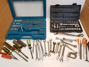 Mixed Lot Sockets 3 8 1 4 Dr Ratchet Wrenches Allied Sockets