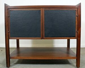 Mid Century Danish Modern Milo Baughman Style Flared Edge Walnut End Table