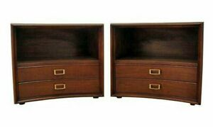 Pair Of Mid Century Danish Modern Paul Frankl Emissary Johnson Nightstands 24