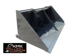 New 96inch Skid Steer Loader Chip Bucket Tar chip sealcoat kmkwelding Llc