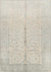 Persian Hand Knotted Decorative Floral Wool Keshan Oriental Area Rug 9x12