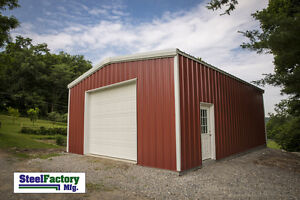 Made In America Steel 20x20x9 Galvanized Metal Storage Garage Shed Building Kit