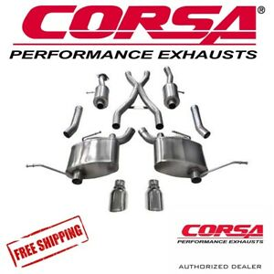 Corsa 2 5 Cat Back Dual Exhaust Kit For 2011 2019 Jeep Grand Cherokee 5 7 V8