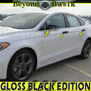 2013 2019 Ford Fusion Gloss Black Door Handle W 4 Smart Kh Mirrors W Signal Hole